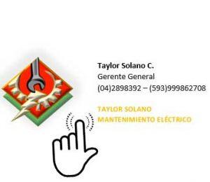 Mantenimiento eléctrico Solano en Guayaquil